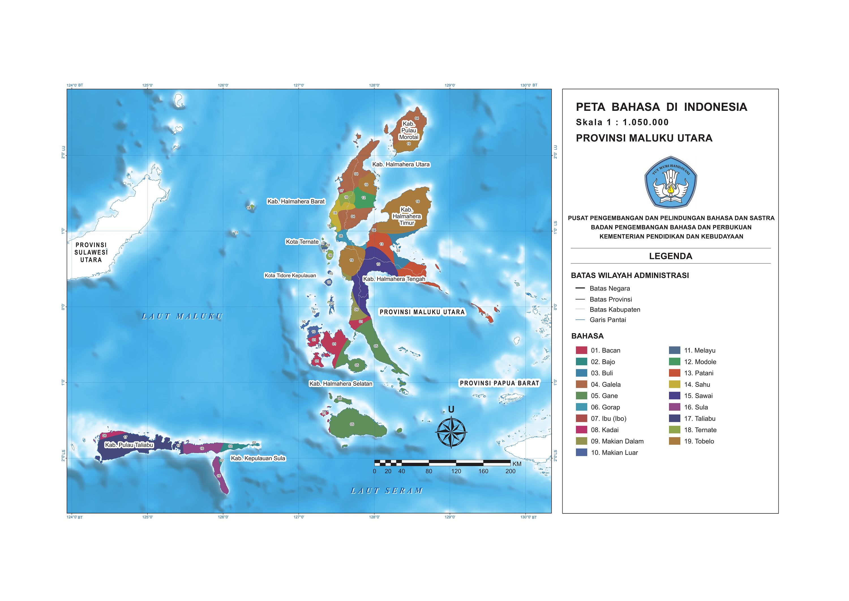 Provinsi Maluku Utara Peta Bahasa