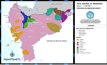 Provinsi Kalimantan Barat Peta Bahasa